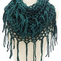 Lattice Knit Fringe Infinity Scarf by Charlotte Russe