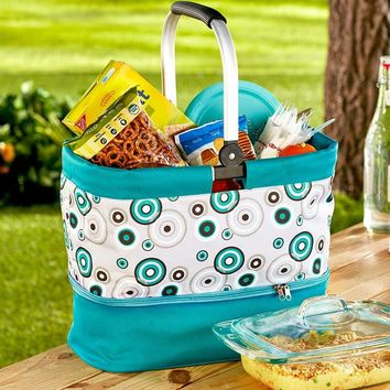 2 in 1 Hot/Cold Casserole Carrier & Tote Insulated Picnics Tailgating