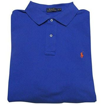 Polo Ralph Lauren Mens Big & Tall Pique Ribbed Trim Polo Shirt