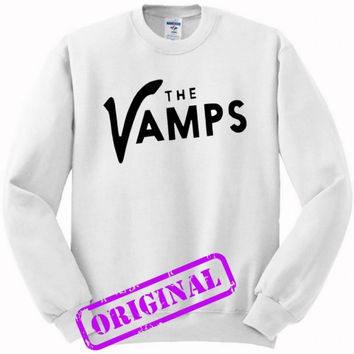 The Vamps for sweater white, sweatshirt white unisex adult