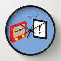 Tablet father Wall Clock by Tony Vazquez