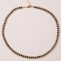 GOLD AND BLACK BEADS CHOKER