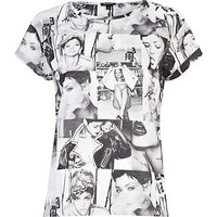 White Rihanna print t-shirt - print t-shirts / tanks - t shirts / tanks / sweats - women