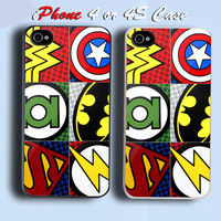 Cool Super hero logo Custom iPhone 4 or 4S Case Cover