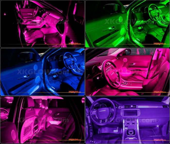 pink 36 led car interior seat dashboard from xk led on ebay. Black Bedroom Furniture Sets. Home Design Ideas