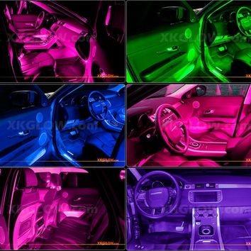 PINK 36 LED Car Interior Seat Dashboard Trunk Underglow Neon Accent Light 2zone