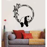 Wall Decal Funny Animal Panda Bamboo Japanese Decor Vinyl Stickers Unique Gift (ig2917)