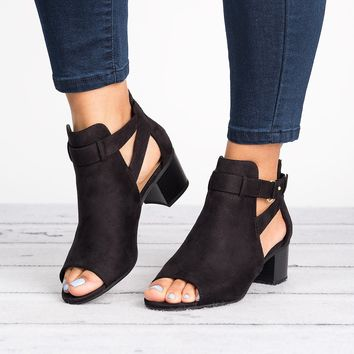 Invest Cutout Booties - Black