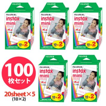 FUJIFILM instant camera instax mini film 100 sheets (2Px5 Pack)
