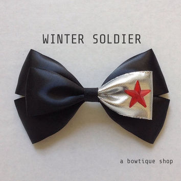 winter soldier hair bow
