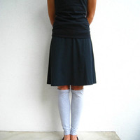 Light Gray T Shirt Leg Warmers / Boot Liners / Women / Girls / For Her / Upcycled / Recycled / Soft / Cotton / Winter / ohzie