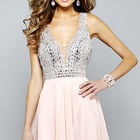 Short V-Neck Faviana Homecoming Dress