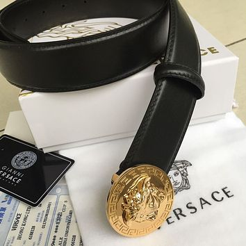 New High Quality Authentic Versace Leather Belt Men's Black Belt 90 cm....