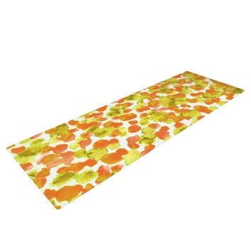 "Ebi Emporium ""Giraffe Spots - Orange"" Orange Yellow Yoga Mat"