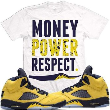 Jordan Retro 5 Michigan Inspire Match Sneaker Tees Shirts - MPR