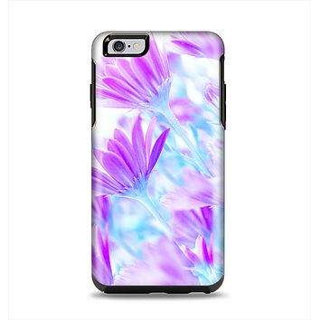 The Vibrant Blue & Purple Flower Field Apple iPhone 6 Plus Otterbox Symmetry Case Skin Set