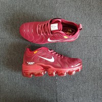Nike Air VaporMax Plus Tn x Off White Wine Red Running Shoes - Best Deal Online