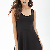 FOREVER 21 Mesh Strap A-Line Dress