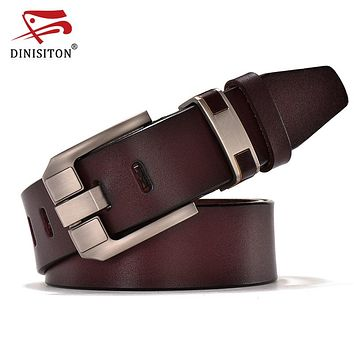 Vintage Belts Genuine Leather For Men Good Quality Cowhide Male Pin Buckle Big Size Strap Waistband For Men