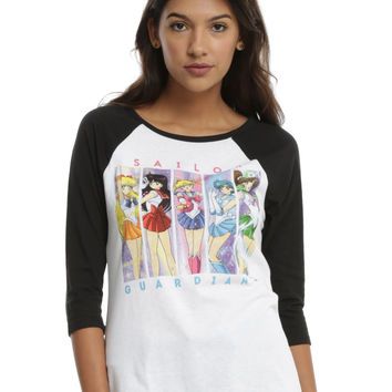 Sailor Moon Sailor Guardians Girls Raglan