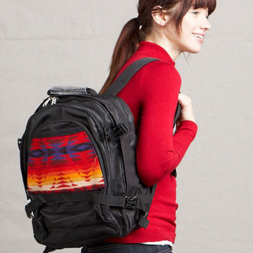 Pendleton ® Wool Fabric Back Pack Pecos Black