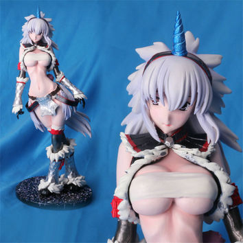 Anime Monster Hunter Unicorn sexy girl resin figure GK resin model doll Action Figure Collettion model Toys brinquedos juguetes