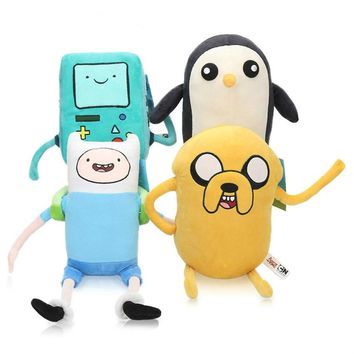 New 20-25cm Adventure Time Plush Toy Finn Jack Bmo Penguin Animal Stufffed Pp Cotton Plush Doll Girl Kids Toy for Party Supplies