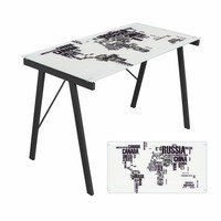 Graphic Top Exponent Desk World Map by Lumisource