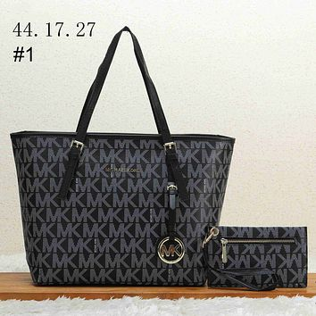 MK tide brand female shopping bag hand strap shoulder slung tote bag two-piece #1