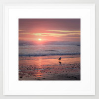 Sunset at Cannon Beach Oregon Framed Art Print by Wood-n-Images