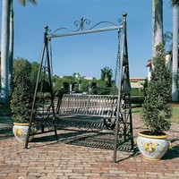 SheilaShrubs.com: Rockaway Garden Swing FZ4016 by Design Toscano: Swings