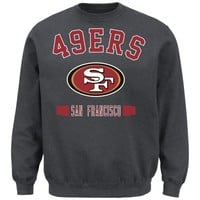 San Francisco 49ers Extra Point Crew Neck Fleece Sweatshirt - Charcoal