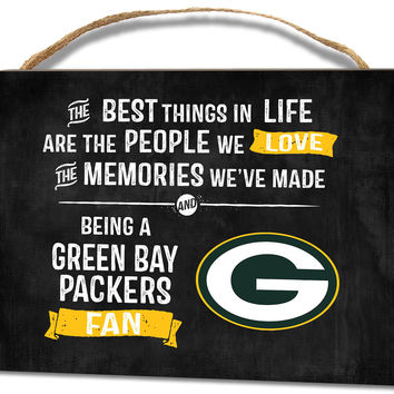 Green Bay Packers Small Plaque - Best Things