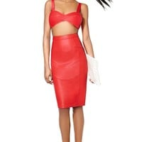 Nasty Gal Collection Unruly Heart Leather Skirt