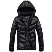 The North Face Winter Fashion Women Sports Cotton Coat Windbreaker Hoodie Black