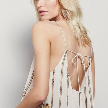 Free People Embellished Open Back Tank