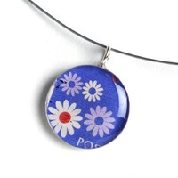 Supermarket - Romanian Postage Stamp Necklace - Medium from Foxglove Accessories
