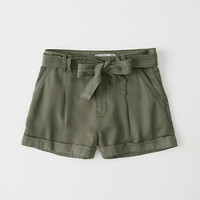 Womens Tie-Waist Shorts | Womens Bottoms | Abercrombie.com