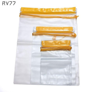 Multi-functional 3Pcs Travel Outdoor Sport Waterproof Digital Camera Mobile Phone Pouch Transparent Clear Dry PVC Bag