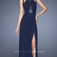 Floor Length Sleeveless Dress with Cut Out Back