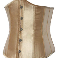 Gold Lace Up Buttons Vintage Corset for Women