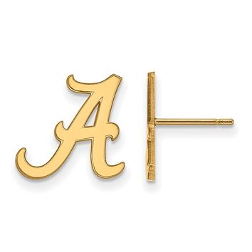 NCAA 14k Gold Plated Silver University of Alabama SM Post Earrings