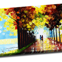 A Day At the Park Landscape Canvas Wall Art Print