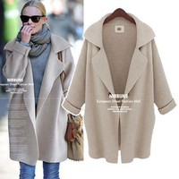 Sweater Winter Blazer Knit Plus Size Women's Fashion Jacket [11822889423]