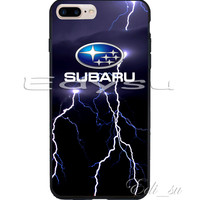 New Hot Subaru Logo Flash Light for iPhone 6 6s 6s+ 7 7+ Print On Hard Case