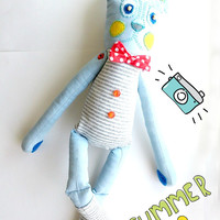 Free shipping/ stuffed toy/ bunny rabbit toy/ toy for children/ interior toy/ bunny rabbit soft toy/ cute gift/ Jack-the-Rabbit