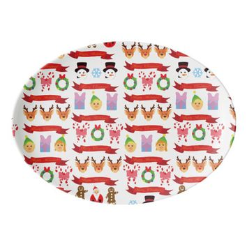 Cute Christmas! Porcelain Serving Platter