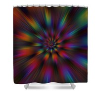 Helcoid Explosion Shower Curtain