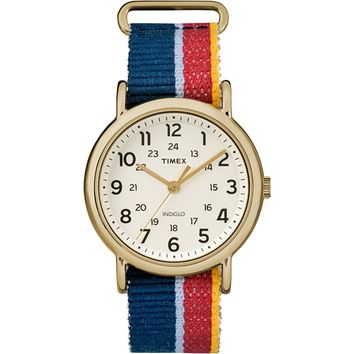 Timex Weekender Watch - Multi-Colored Striped-Denim Strap [TW2R10100JV]