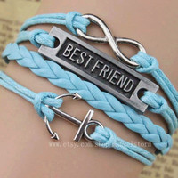 The best sales - best friend bracelet, infinity, anchor bracelet, unisex bracelet, the best gift